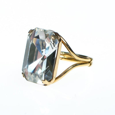 Vintage Huge Chunky Crystal Cocktail Statement Ring
