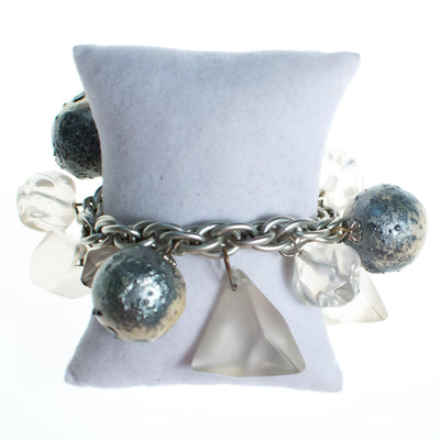Vintage 1960s Chunky Lucite and Gray Bubble Bead Bracelet by Mid Century Modern - Vintage Meet Modern - Chicago, Illinois