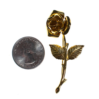 Vintage Brooch, Rose Brooch, Gold Tone Brooch, Brooches and Pins by 1950s - Vintage Meet Modern - Chicago, Illinois