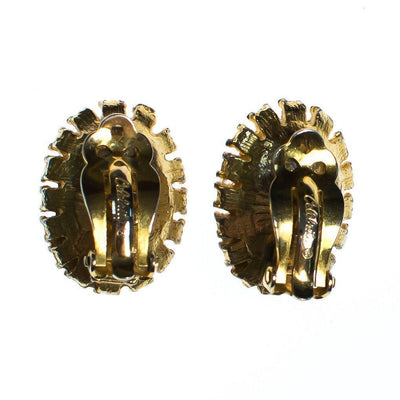 Vintage Celebrity NY Gold Rose and Black Cameo Style Earrings by Celebrity NY - Vintage Meet Modern - Chicago, Illinois