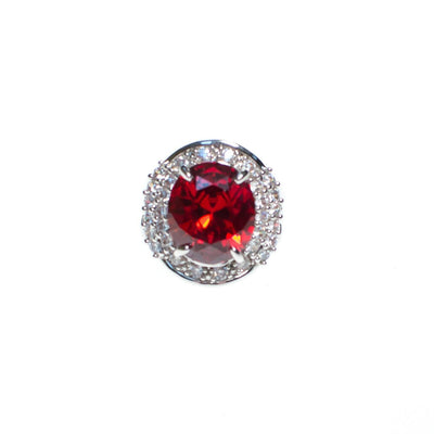 Vintage Art Deco Style Ruby Red and Crystal Statement Ring by Art Deco Style - Vintage Meet Modern - Chicago, Illinois