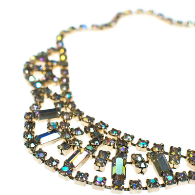 Vintage Aurora Borealis Iridescent Crystal Necklace by 1950s - Vintage Meet Modern - Chicago, Illinois