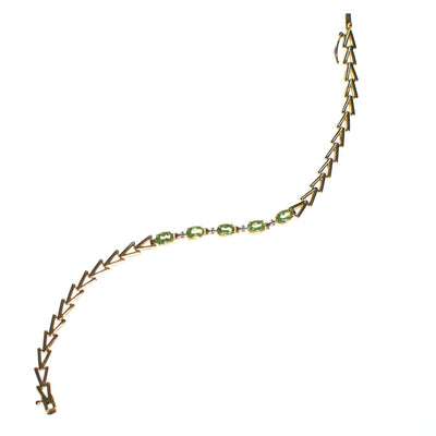 Vintage Peridot Tennis Bracelet 18kt Gold Over Sterling Silver by Peridot - Vintage Meet Modern - Chicago, Illinois