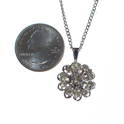 Vintage Sarah Coventry Petite Diamante Rhinestone Starburst Pendant Necklace by Sarah Coventry - Vintage Meet Modern Vintage Jewelry - Chicago, Illinois - #oldhollywoodglamour #vintagemeetmodern #designervintage #jewelrybox #antiquejewelry #vintagejewelry