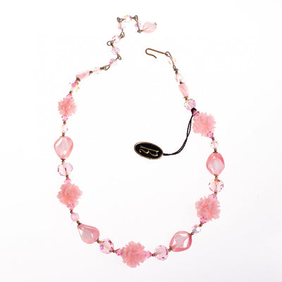 Vintage Regency Pink Crystal and Lucite Necklace by Regency - Vintage Meet Modern - Chicago, Illinois