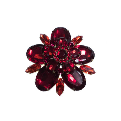 Vintage Red Rhinestone Brooch by 1950s - Vintage Meet Modern - Chicago, Illinois