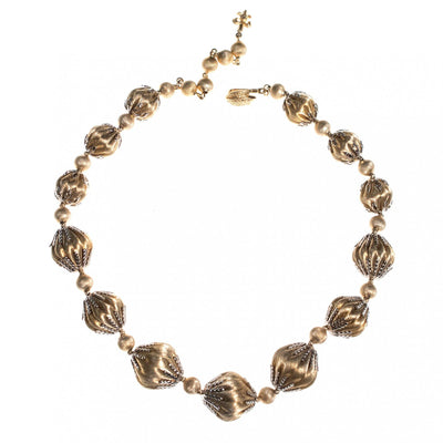 Vintage Vendome Gold and Silver Beaded Necklace by Vendome - Vintage Meet Modern - Chicago, Illinois