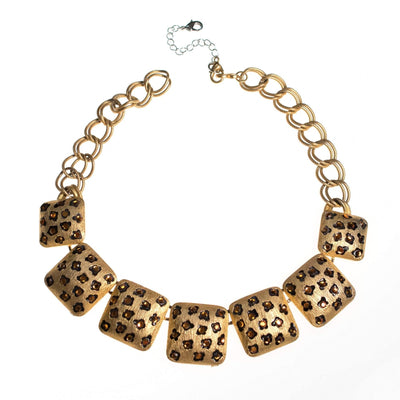 Vintage Craft Rhinestone Leopard Print Statement Necklace by Craft - Vintage Meet Modern Vintage Jewelry - Chicago, Illinois - #oldhollywoodglamour #vintagemeetmodern #designervintage #jewelrybox #antiquejewelry #vintagejewelry