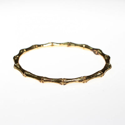 Vintage Kenneth Jay Lane Gold Bamboo Bangle Bracelet by Kenneth Jay Lane - Vintage Meet Modern - Chicago, Illinois