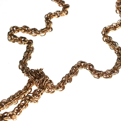 Vintage 1960s Monet Bolero Gold Lariat Necklace with Intricate Detailing by Monet - Vintage Meet Modern - Chicago, Illinois