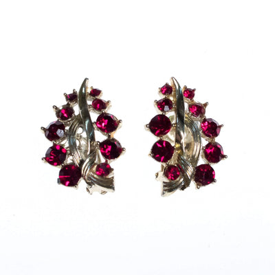 Vintage Lisner Red Rhinestone Earrings by Lisner - Vintage Meet Modern - Chicago, Illinois