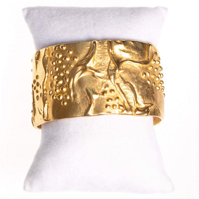 Vintage Kenneth Jay Lane Gold Cuff Bracelet by Kenneth Jay Lane - Vintage Meet Modern Vintage Jewelry - Chicago, Illinois - #oldhollywoodglamour #vintagemeetmodern #designervintage #jewelrybox #antiquejewelry #vintagejewelry