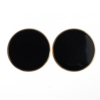 Vintage Monet Black Palette Style Earrings by Monet - Vintage Meet Modern Vintage Jewelry - Chicago, Illinois - #oldhollywoodglamour #vintagemeetmodern #designervintage #jewelrybox #antiquejewelry #vintagejewelry