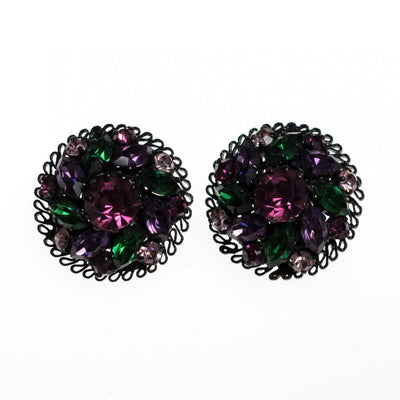 Vintage Made in Austria Purple, Green and Black Earrings by Made in Austria - Vintage Meet Modern - Chicago, Illinois