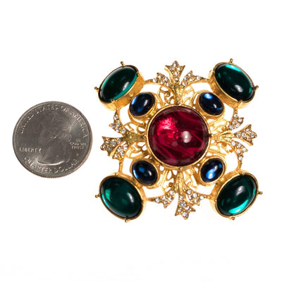 Vintage RJ Graziano Royal Colors Bejeweled Maltese Cross by RJ Graziano - Vintage Meet Modern - Chicago, Illinois