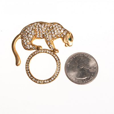 Vintage Jewelry Cheetah Brooch by 1980s - Vintage Meet Modern - Chicago, Illinois