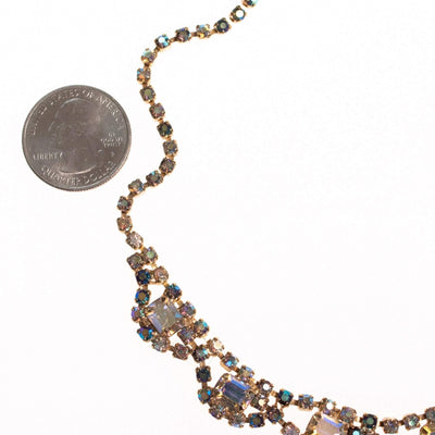 Vintage Unsigned Weiss Aurora Borealis Necklace by Weiss - Vintage Meet Modern - Chicago, Illinois