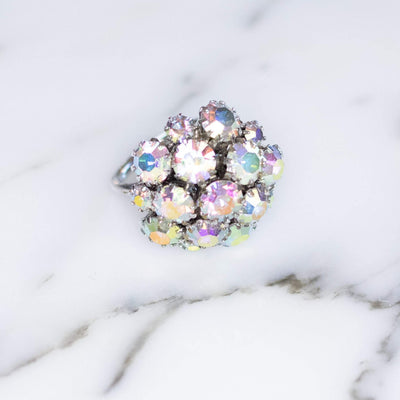 Vintage 1950s Sarah Coventry Aurora Borealis Rhinestone Cluster Statement Ring by Sarah Coventry - Vintage Meet Modern - Chicago, Illinois
