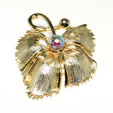 1970's Gold Leaf Brooch, Brooches - Vintage Meet Modern