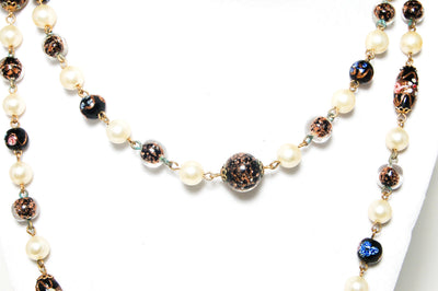 Venetian Wedding Cake Bead Long Necklace, Necklaces - Vintage Meet Modern
