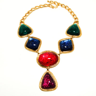 Jewel Tone Statement Necklace by KJL for Avon Caprianti by KJL - Vintage Meet Modern - Chicago, Illinois