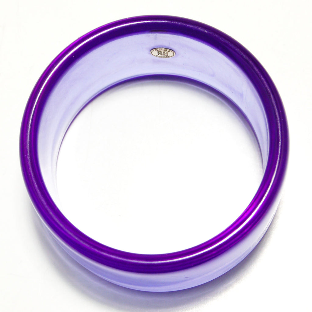 Wide Purple Lucite Bangle by Givenchy - Vintage Meet Modern  - 2