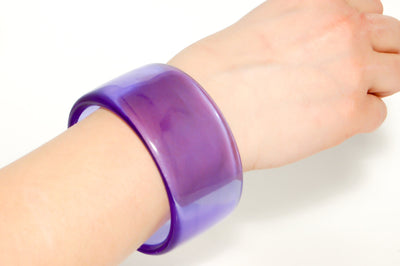 Wide Purple Lucite Bangle by Givenchy by Givenchy - Vintage Meet Modern - Chicago, Illinois
