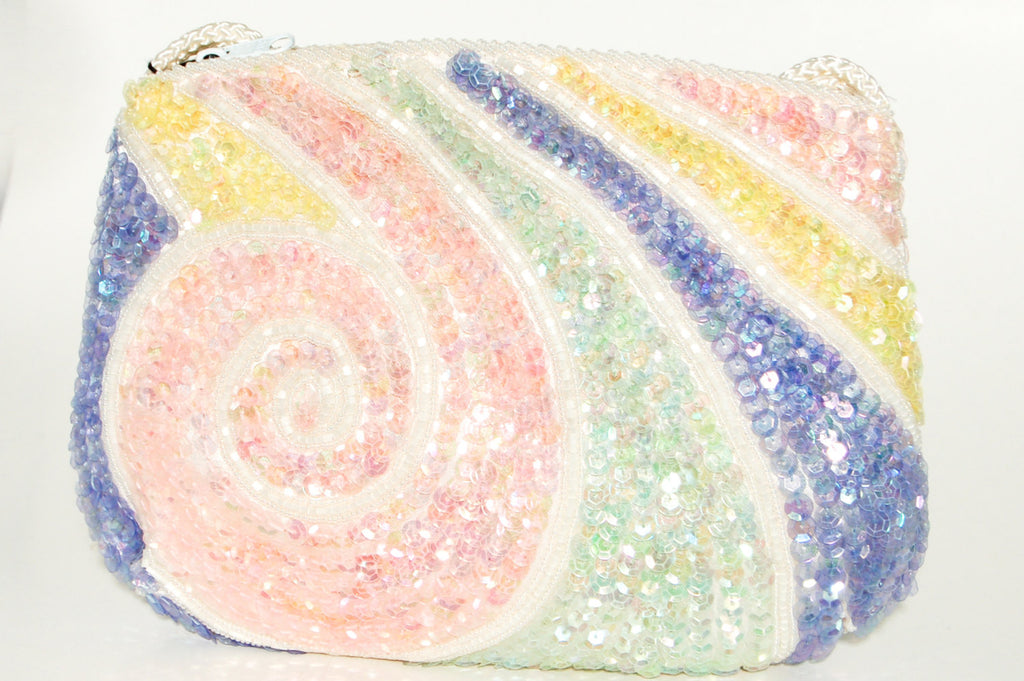 Colorful Beaded Purse with Swirl Design by La Regale LTD, Purses - Vintage Meet Modern