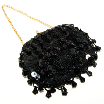 1950's Black Beaded Sequin Evening Bag, Accessories - Vintage Meet Modern
