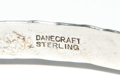 1940's Floral Etched Sterling Silver Bracelet by Danecraft by Danecraft - Vintage Meet Modern - Chicago, Illinois