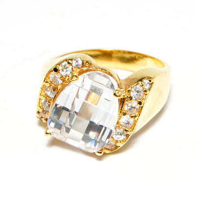 Prism Crystal Ring with Rhinestone Details by CL Designs by CL Designs - Vintage Meet Modern Vintage Jewelry - Chicago, Illinois - #oldhollywoodglamour #vintagemeetmodern #designervintage #jewelrybox #antiquejewelry #vintagejewelry