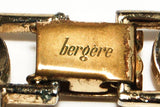 Gold Tone Choker Necklace with Leaf Design by Bergere - Vintage Meet Modern  - 4