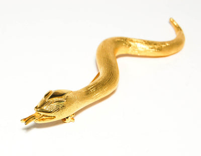 Miss Valentino Snake Brooch by Miss Valentino - Vintage Meet Modern - Chicago, Illinois