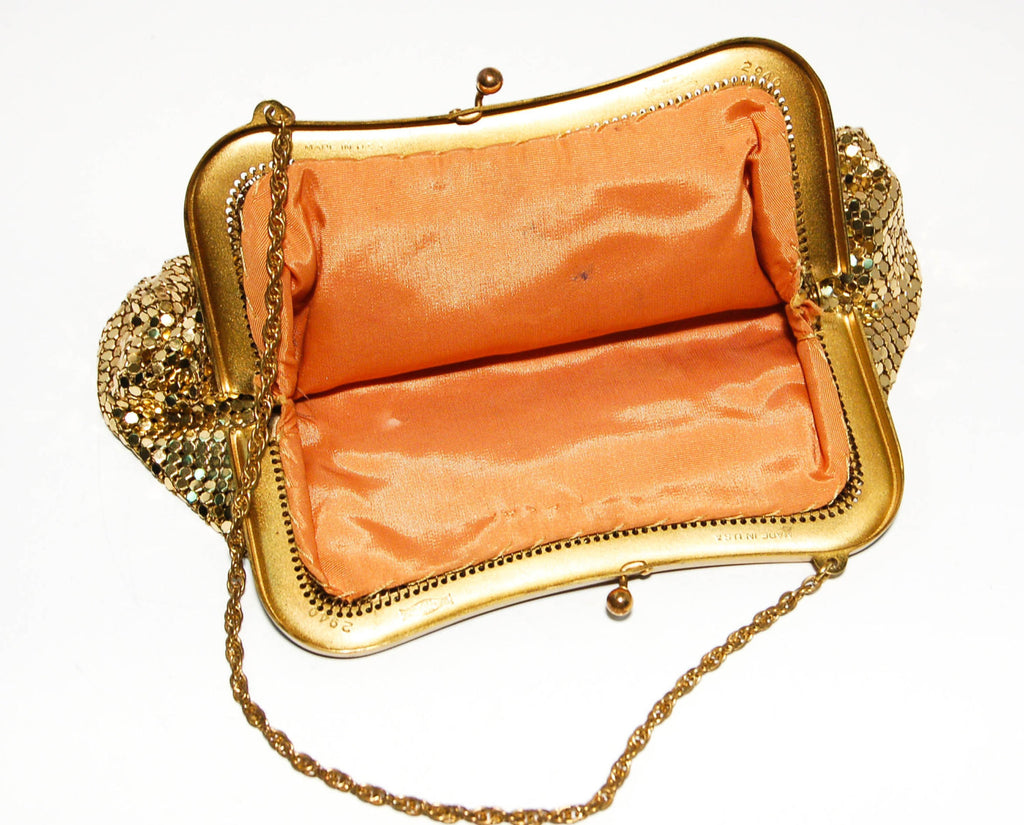 Gold Mesh Wristlet by Whiting and Davis - Vintage Meet Modern  - 2