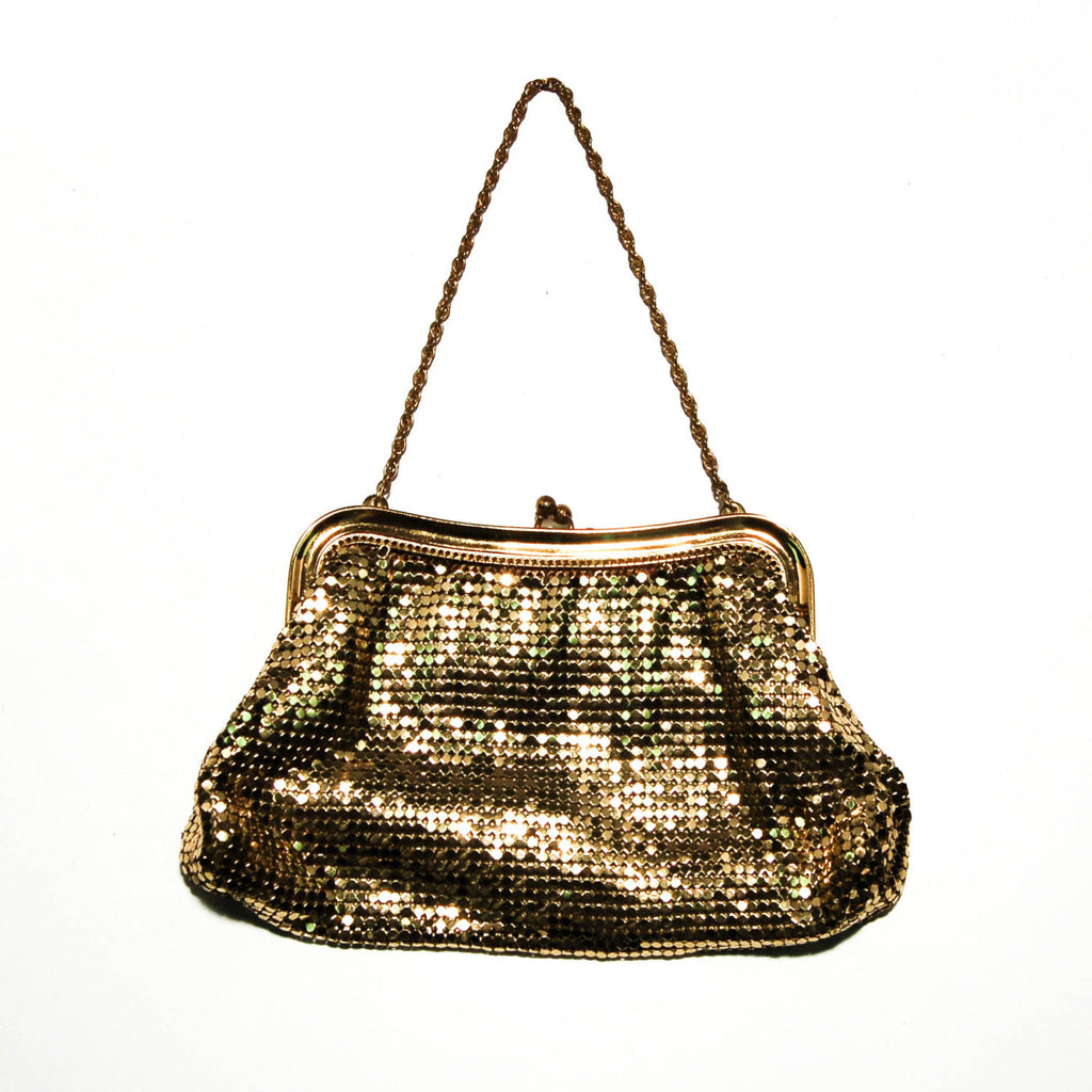 Gold Mesh Wristlet by Whiting and Davis - Vintage Meet Modern  - 1