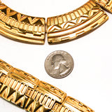 Egyptian Revival Bracelet and Collar Necklace Set by Monet - Vintage Meet Modern  - 4