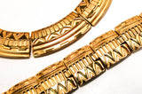 Egyptian Revival Bracelet and Collar Necklace Set by Monet - Vintage Meet Modern  - 1