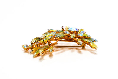 1960's Spray Style Colorful Rhinestone Brooch by 1960s Vintage - Vintage Meet Modern - Chicago, Illinois