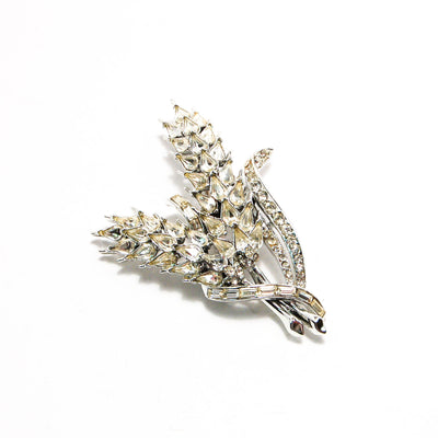 1950's Silver Tone Rhinestone Wheat Brooch by 1950's - Vintage Meet Modern - Chicago, Illinois