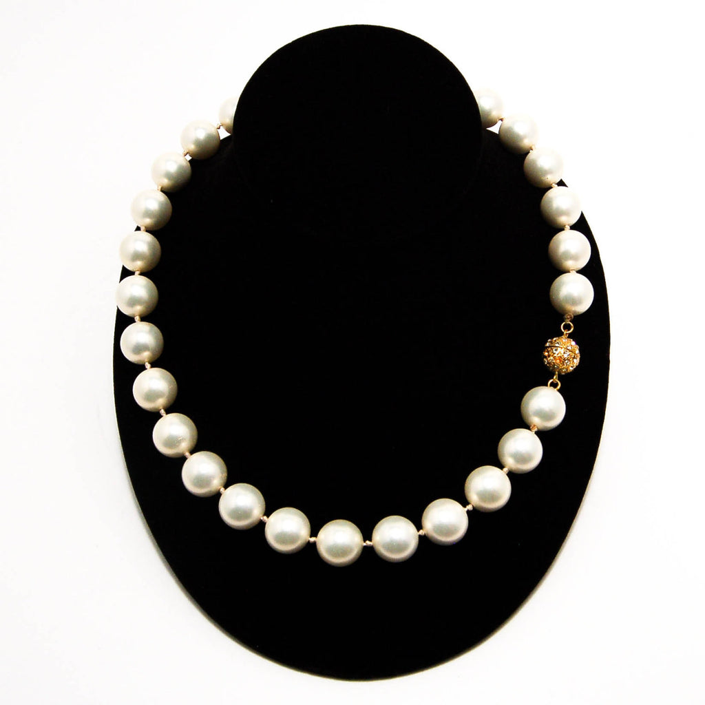 1980's Glass Pearl Necklace by Majorica, Necklaces - Vintage Meet Modern
