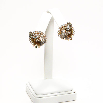 1940's Paste Rhinestone and Floating Pearl Earrings by Jomaz Joseph Mazer, Earrings - Vintage Meet Modern