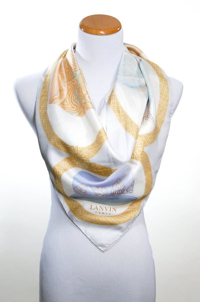 Silk Scarf with Millinery Scene by Lanvin Paris by Lavin Paris - Vintage Meet Modern - Chicago, Illinois