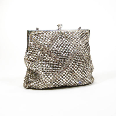 Silver Tone Rhinestone Covered Evening Bag by Walborg by Walborg - Vintage Meet Modern Vintage Jewelry - Chicago, Illinois - #oldhollywoodglamour #vintagemeetmodern #designervintage #jewelrybox #antiquejewelry #vintagejewelry