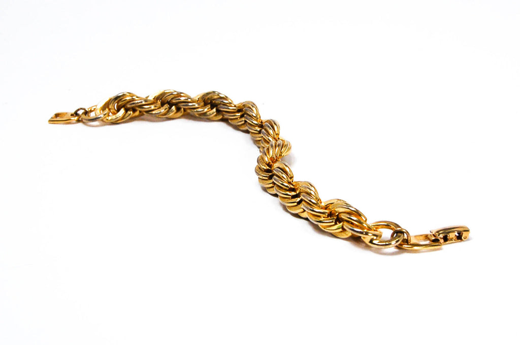Gold Rope Chain Bracelet by Napier - Vintage Meet Modern  - 3