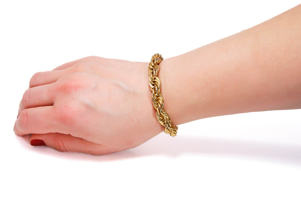 Gold Rope Chain Bracelet by Napier - Vintage Meet Modern  - 4