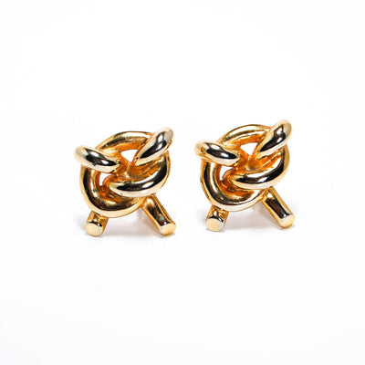 1980s Gold Knot Earrings by 1980s - Vintage Meet Modern - Chicago, Illinois