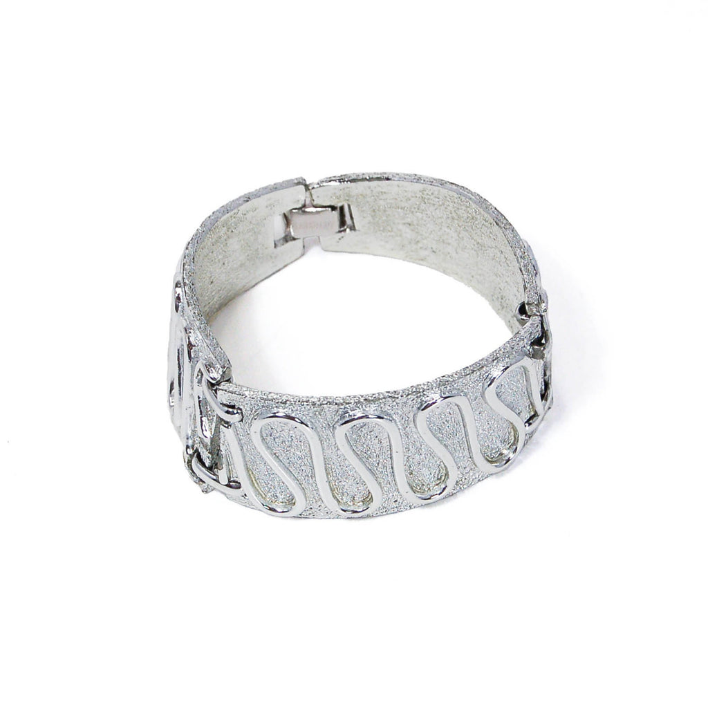 "Silver ""Nile"" Bracelet by Sarah Coventry - Vintage Meet Modern  - 2"