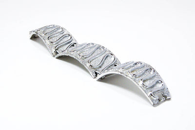 "Silver ""Nile"" Bracelet by Sarah Coventry by vintagemeetmodern - Vintage Meet Modern Vintage Jewelry - Chicago, Illinois - #oldhollywoodglamour #vintagemeetmodern #designervintage #jewelrybox #antiquejewelry #vintagejewelry"