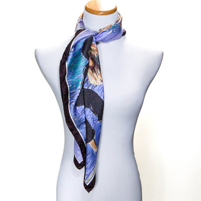 Sunday at Sea Guy Buffet Silk Scarf Museum Replica Fine Art Collector Blue Purple Black by Silk Scarf - Vintage Meet Modern Vintage Jewelry - Chicago, Illinois - #oldhollywoodglamour #vintagemeetmodern #designervintage #jewelrybox #antiquejewelry #vintagejewelry