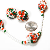 Colorful Glass Bead Necklace and Earrings Set by Castlecliff - Vintage Meet Modern  - 3